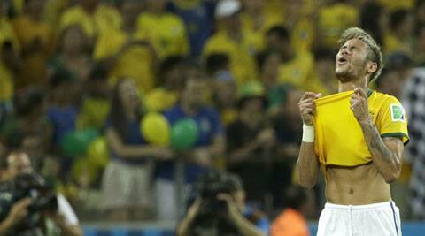 Neymar suffered a broken vertebrae in Brazil's 2-1 win over Colombia on Saturday. (Source: AP)