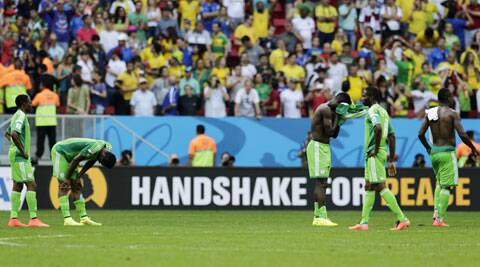 Nigeria were one of the three African teams whose players protested over payments. (Source: AP)