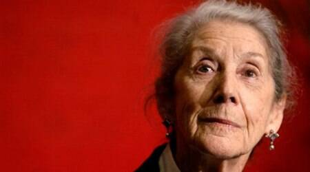 Gordimer, who was awarded the Nobel Prize for Literature in 1991, died peacefully at her Johannesburg home on Sunday. (Source: AP)