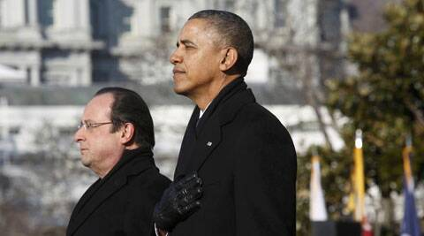 Presidents Francois Hollande and Barack Obama. (Source: Reuters)