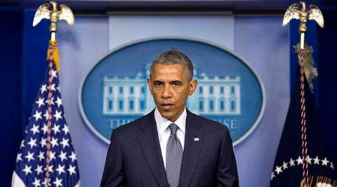 President Barack Obama speaks about the situation in Ukraine, Friday, July 18, 2014, in the Brady Press Briefing Room of the White House in Washington. (AP Photo)