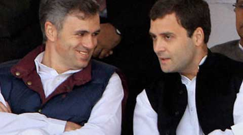 Reacting to Congress' announcement of going alone during Assembly polls, J&K Chief Minister Omar Abdullah accused it of distorting facts. (Source: PTI)
