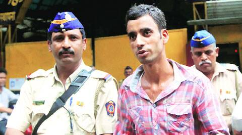 Sajjad being taken to a court in Mumbai on Monday.