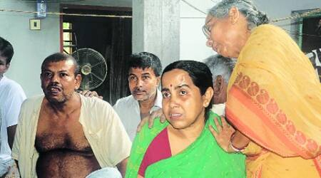 Sourav Choudhury; his grieving parents. (Source:  Express)