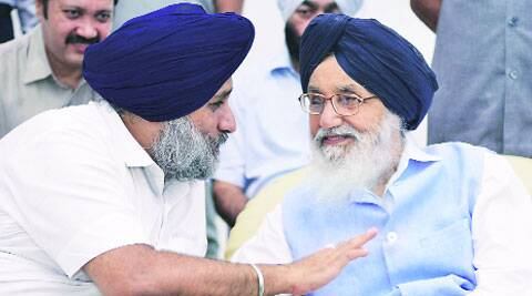 Sukhbir and Parkash Singh Badal on Tuesday.