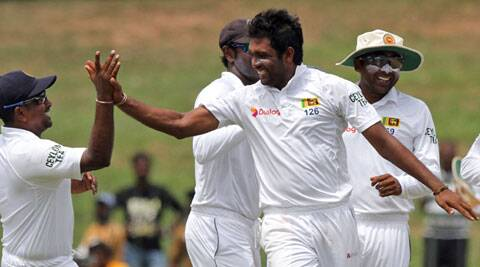 Dilruwan Perera's career best figures gave Sri Lanka a big first innings lead. (Source: AP)
