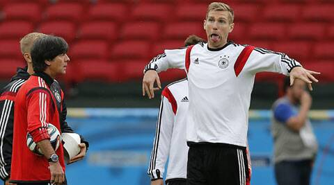 Mertesacker's outburst epitomised the frustration among the Germany players who feel that, even with a victory, the fans — and media — back home in Germany will not be satisfied. (Source: AP)