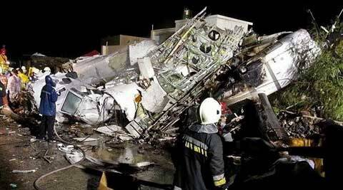 TransAsia Airways plane crashes on making emergency landing in Taiwan, 47 dead