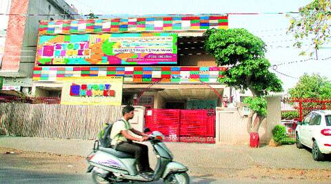 A playschool at BRS Nagar in Ludhiana. (Source: Express photo by Gurmeet Singh)