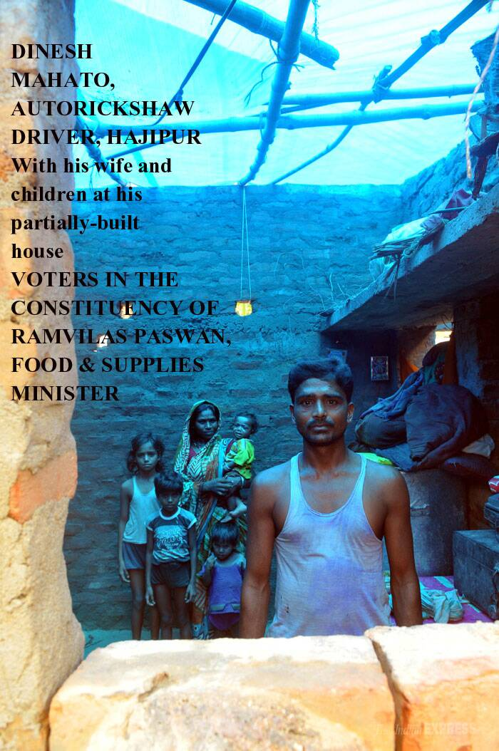 "Mahato has just returned after getting his rations from the PDS outlet at Daulatpur- Devaria panchayat in Vaishali district. The last rations he got were in October. The current collection is only a month's quota for his family of seven. <br /> The auto driver links his dreams with his MP. ""Now that Ram Vilas Paswan is minister-incharge, people of his constituency should be told the truth."" What he wants to know is why rations have always been short. ""Last year, we got grains for five months."" (Reporting by Santosh Singh, Express photo by Prashant Ravi)"
