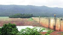 Varasgaon dam, where water level had dipped alarmingly. ( Express photo by Sandeep Daundkar )
