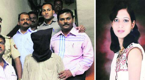 Accused Prashant Jeevan Suryawanshi in police custody. Right: Anuradha Kulkarni