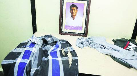 The clothes Mahesh Shinde was said to be wearing the day he was attacked. (Source: Express photo by Pavan Khengre)