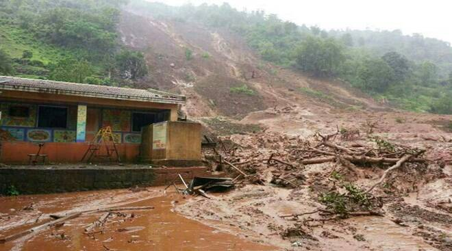 Major landslide hits Pune village