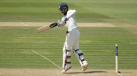 Rahane scored his third Test half-century on the day to help India avoid a collapse in the post-lunch session. (Source: AP)