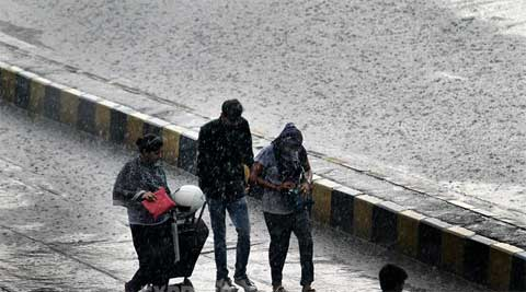 Rain is likely to occur in south east Rajasthan from Tuesday onwards, whereas in Gujarat rain occurred on Saturday. (Source: Express photo by Ravi Kanojia)