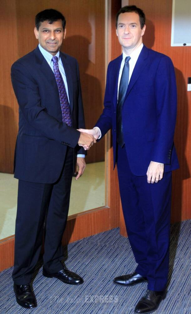 Today in pics: Raghuram Rajan meets Britain's Chancellor