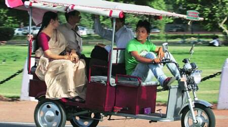 There area around 70,000 battery-operated rickshaws plying on roads in the national capital.
