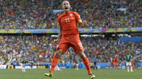 Robben has been one of the players of the tournament, scoring three goals and terrorising defences with his quick, weaving runs and close control. (Source: AP)
