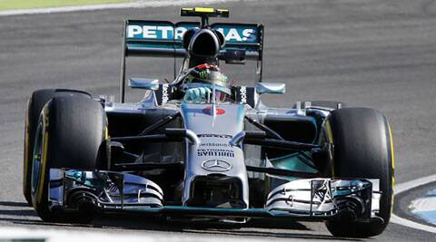 Rosberg leads Hamilton by just four points going into Sunday's race at the halfway stage of the season. (Source: AP)