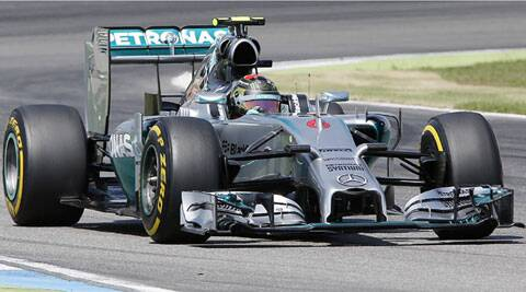 Nico Rosberg races to win the qualifying of the German Formula One Grand Prix in Hockenheim,Germany. (Source: AP)
