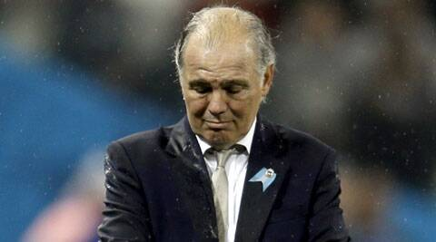 TIME UP: Argentina coach Sabella will quit after the World Cup final irrespective of the result. (Source: AP)