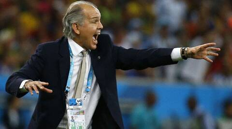 Argentina coach Sabella was left ruing the missed chances against Germany in the World Cup final on Sunday. (Source: Reuters)