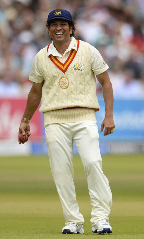 Playing his first match after last playing his last Test match against West Indies in November, Tendulkar was running around like a player playing regular cricket (Source: Reuters)
