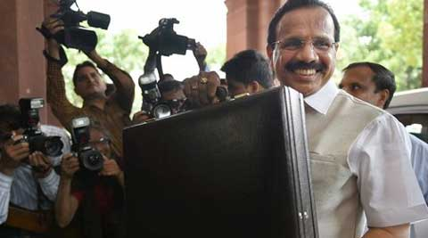 Union Railways Minister Sadananda Gowda arrives at Parliament to present the Rail Budget.  (Source: PTI)