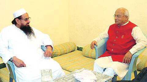 Ved Pratap Vaidik with Hafiz Saeed.