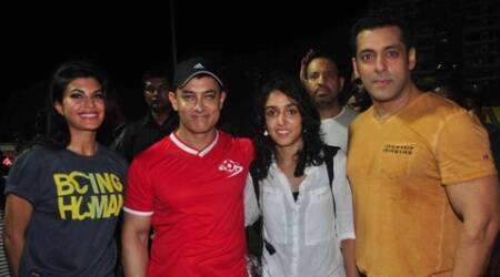 When Salman arrived for the match organised by Aamir's daughter, the photographers refused to click his pictures.