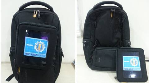 The Samsonite backpack comes boasts of a solar charging unit, which is detachable from the main unit