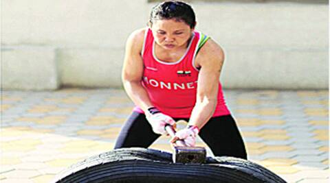Always known for her work ethic, Sarita Devi has retained much of her speed and power while moving to the 60kg category. Source: Deepak Shijagurumayum,
