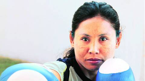 Sarita Devi advanced following a technical knock-out