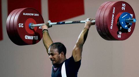 The lifter from Vellore has made history at the Commonwealth Games by setting a new record in the men's 77kg category. (Source: PTI)