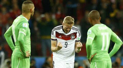 Algeria held off Germany till the 2nd minute of extra time when Andre Schuerrle put his team ahead. (Reuters)