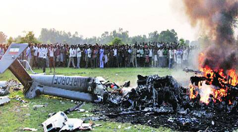 Helicopter was on its way from Bareilly to Allahabad, and crashed in Sitapur district. Vishal Srivastav