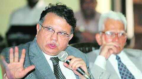Justice Shah wants 7 members instead of 6 ; Bill says 3 SC judges plus CJI, Shah says 4 SC judges plus CJI. Source Express photo