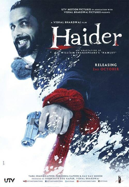 Shahid Kapoor has shed his chocolate boy image for this new avatar in 'Haider'. The actor looks fierce and awe-inspiring in the action packed mode.
