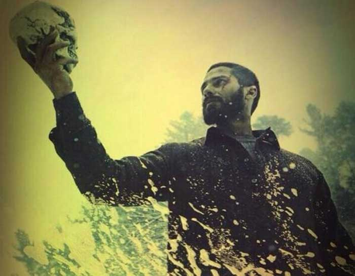 For 'Haider', the Kapoor boy shaved off his head and grew a beard. (Source: Twitter)
