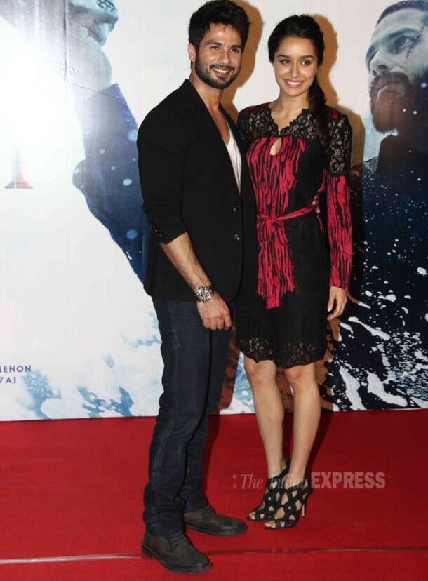 Haider Shahid Kapoor with his 'ladylove' Shraddha