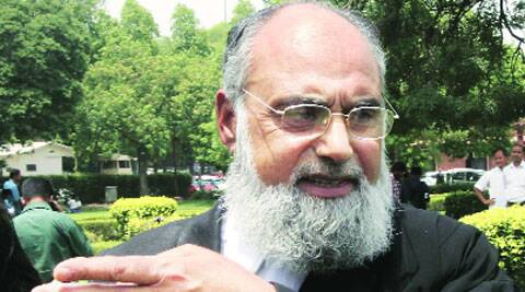 Lawyer Shakeel Ahmad, who represented Muslim organisations, in New Delhi on Monday.