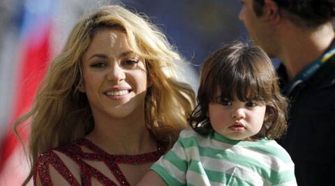 Pop star Shakira and her partner Gerard Pique are reportedly expecting their second child together. (source: AP)