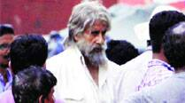 Amitabh Bachchan on the sets of Shamitabh