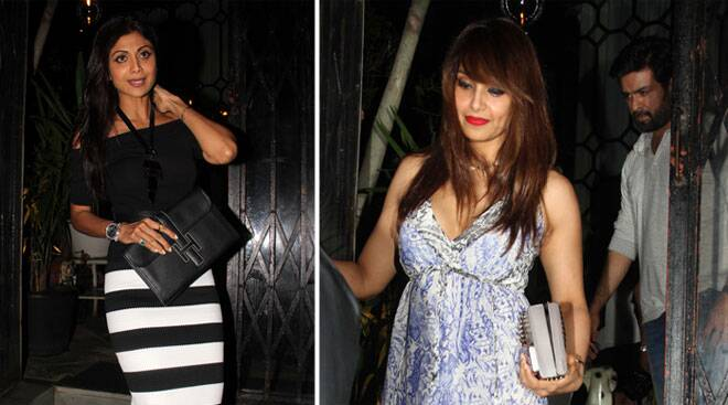 Shilpa, Raj, Bipasha, Harman enjoy a couples' night out