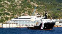 Costa Concordia refloated to be towed away for scrap