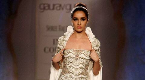 Shraddha Kapoor looked stunning in an cream off shoulder gown.