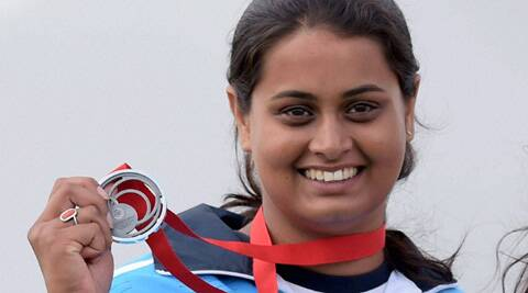 Shreyasi was in with a chance to go for a shoot-off for the gold but missed the double target twice to settle for the white metal. (Source: PTI)
