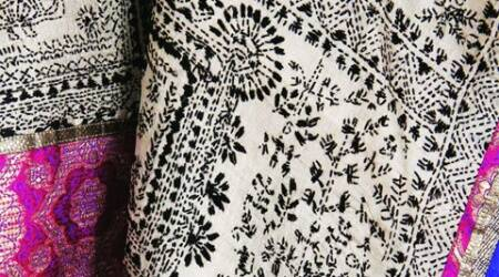 The collection is a mix of block-printed, screen-printed, textured and embroidered fabrics.