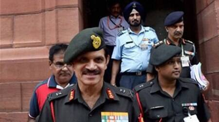 Amy Chief-designate, Lt. General Dalbir Singh  at Parliament in New Delhi on Thursday. (Source: PTI)